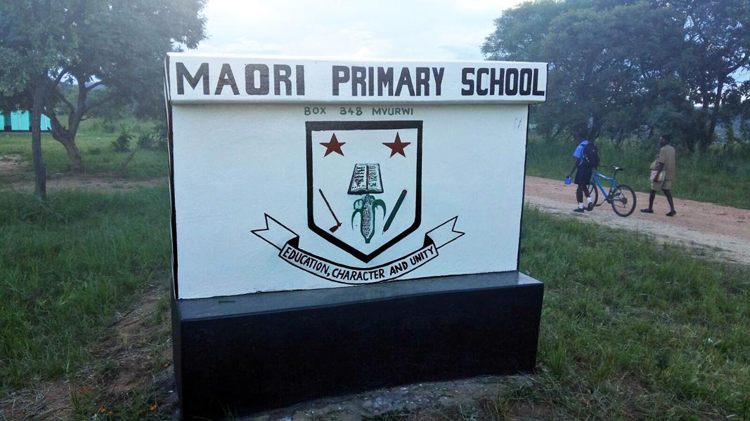 Maori School sign