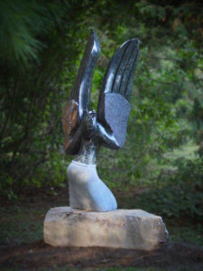 Ascending Spirit by Simon Chidharara Opal stone Dimensions: 140 cms high, 64 cms wide and 44 cms deep